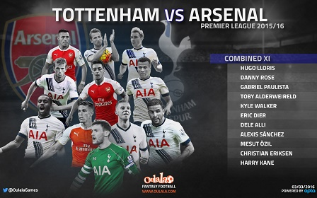Arsenal v Spurs--Combined-XI-1