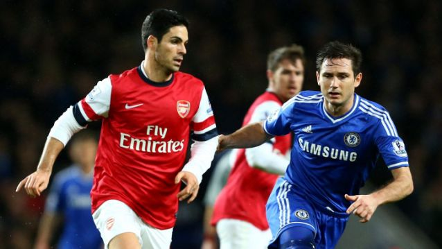 Arteta v Lampard as players