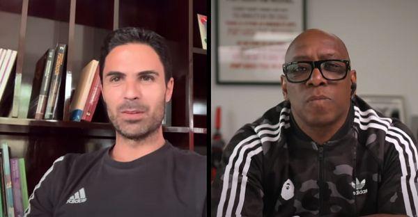 Video - Mikel Arteta reveals some interesting stuff to Ian Wright