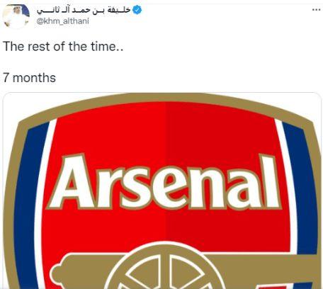 Qatar tweet